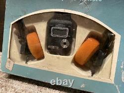 Vtg NEW Radiodigit Radio-Watch Digital Men's LCD Watch withOriginal Box & Headset