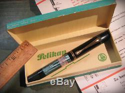 Vtg Pelikan 100 New Old Stock in Original Box with Paper 14K Gold Nib Fountain Pen