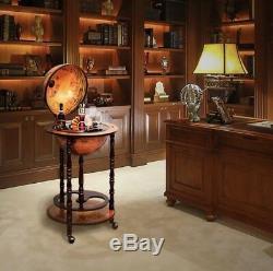 Wood Drink Corner Cabinet Whisky Wine Minibar Stand Bottle Antique Gift Present
